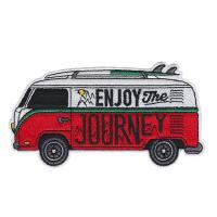 China Journey Car Custom Woven Badges Embroidered Sew on Iron on Patches wholesale