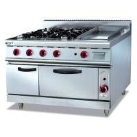 China Commercial Stainless Gas Range With Griddle wholesale