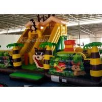 Buy cheap Inflatable Green Palm Tree Animal Zoo Commercial Bounce Houses For Kids 10m L * 7m W *5.2m H from wholesalers