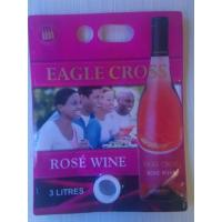 China Laminated 4 Layer 3 Litres Rose Wine Pouch Bib Bag / Juice Bag In Box wholesale