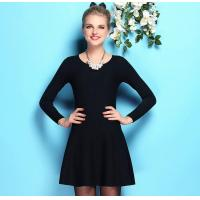 China Europe Style Woolen Dress Long Sleeved Cotton Fluffy Dress Bottoming dress Brand Womens apparel wholesale