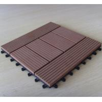 China Outdoor Waterproof WPC DIY Tile for Balcony Flooring Decking on sale