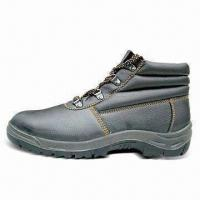 China Leather Safety Boots, Available in Various Designs wholesale