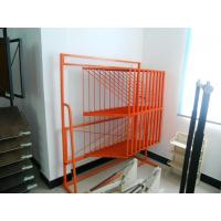 China Portable one side flooring display racks stand tube, wire material for tile flooring store wholesale
