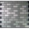 China 8mm Mesh Mounted Metal Mosaic Tiles, 298x298mm  Metallic Mosaic Tiles wholesale