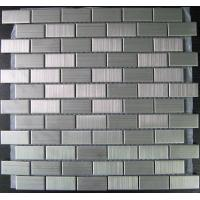 China Square Brushed Stainless Steel Metal Mosaic Tiles For Kitchen, Bathroom wholesale