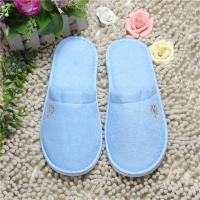 Buy cheap Comfortable Blue Terry Cloth Spa Slippers , Disposable Travel Slippers OEM / ODM from wholesalers