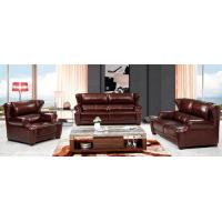 China modern living top leather sofa 1+2+3 brown genuine leather sofa set wholesale