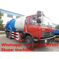 China Dongfeng 6*4 LHD/RHD Cummins 210hp diesel 16m3 vacuum sewage suction truck for sale, dongfeng brand sludge tank truck wholesale