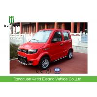 China Red Color Four Seater Electric Car , Economic Smart Fully Electric Vehicles on sale