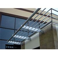 China Scrubbable Aluminium Louvre Awnings Outdoor Sun Shade Horizontal Pattern wholesale