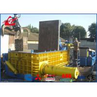 China Heavy Duty Copper Tubes Stainless Steel Pipes Scrap Metal Compactor Baling Press 74kW wholesale
