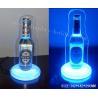China Bottle Shape Revolving Acrylic Plastic Wine Holder With Light On The Bottom wholesale