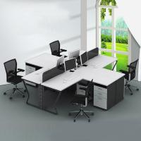 Buy cheap Low price big discount 4 seat office workstation for new office white color modern style from wholesalers
