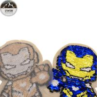 China Iron Man Embroidery Designs Patches For Garment Decoration Custom Color wholesale