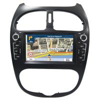 China Peugeot 206 GPS Navigation Car Multimedia DVD Player With Android / Windows System wholesale
