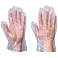 Buy cheap Plastic Transparent Disposable Gloves , Non Sterile Polythene Gloves Food from wholesalers
