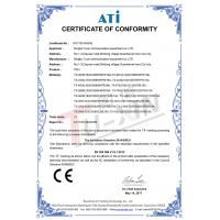 Ningbo Tuxin Communication Equipment Co., Ltd. Certifications