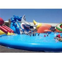 Buy cheap Customized Inflatable Water Parks , Giant Shark Inflatable Swimming Pool With from wholesalers