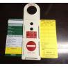 China Продукты безопасности бирки/лесов безопасности ремонтины/бирка для техники безопасности на производстве wholesale