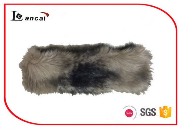 Quality Mink Faux Fur Neck Ladies Snood Scarves 7×28 cm With Elastic Band for sale