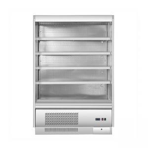 China 960mm Slimline Multideck Fridge Glass Door Fridge Freezer Air Cooling 500L Display Volume wholesale