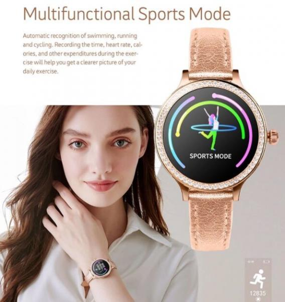 Quality Color Screen Smart Watch Bracelet IP68 Waterproof Heart Rate Blood Pressure Monitor Smart Watches for Women for sale
