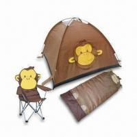 China 170T Polyester Kids Tent Set with Sleeping Bag, Folding Chair and 5.9mm Fiberglass Tent Frame on sale