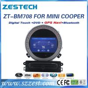 China ZESTECH car gps for BMW mini cooper car gps navigator mp3 player digital TV wholesale