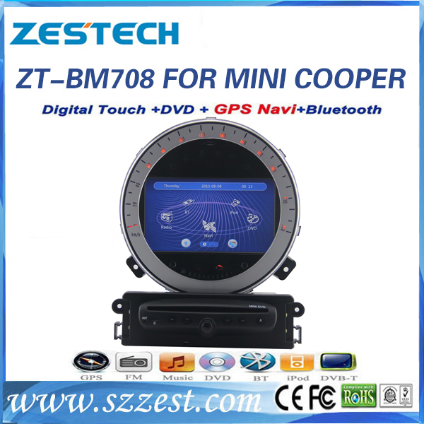 Quality ZESTECH car video for BMW mini cooper car video with dvd gps mp3 player 1080P for sale