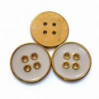 China Plastic Buttons, Fashionable Design, Available in Various Sizes, Styles and Colors wholesale