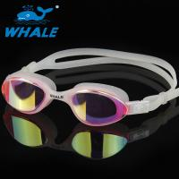 Lightweight Anti Fog Swim Goggles , Tinted Swimming Goggles With Lenses