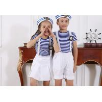 China Navy Blue T - Shirt and overalls School Uniform Clothes for Primary school students wholesale