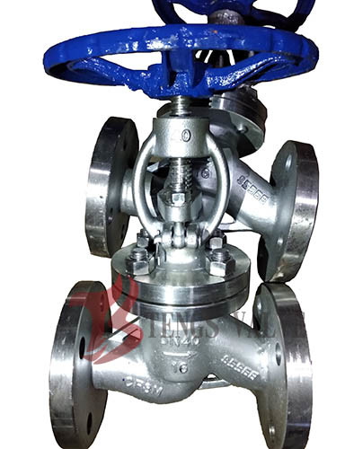Quality Straight Body Din Globe Valve Metal Seal With Bolted Bonnet Rising Stem for sale