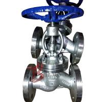 China Straight Body Din Globe Valve Metal Seal With Bolted Bonnet Rising Stem wholesale