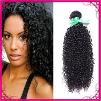 Kinky Curl Indian Human Hair Extensions Natural Black Without Chemical