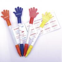 China hand style banner flag pen, promotional use pull out flag ball pen wholesale