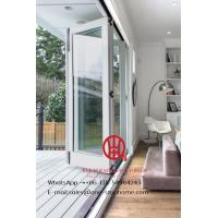 China White color low-E glass thermal break aluminum folding door for villa house on sale