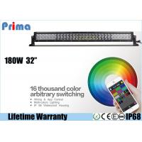 China 32 Inch 180W CREE Remote Control LED Light Bar Dance With Music IP68 Waterproof wholesale