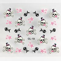 Halloween Nail Art Decals Environment Friendly Ink and Glue