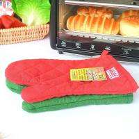 China ECO - Friendly Customized Kitchen Oven Mitts With Logo Embroidery Bbq Oven Gloves wholesale