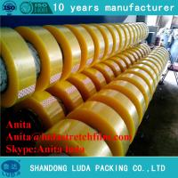 China luda suppier high quality clear 48mm bopp plastic packing adhesive tape roll wholesale