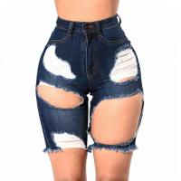 China Eco - Friendly Womens Jean Shorts Ladies Knee Length Shorts wholesale