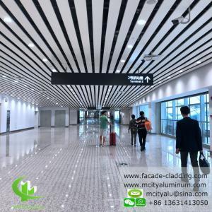 China Pre Paint  Aluminum Ceiling Tiles , Exterior Aluminum Ceiling Panels 6000mm Max Length on sale