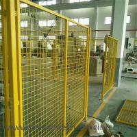 Buy cheap Yellow Color Welded Workshop Metal Fence / Warehouse Isolation Fence from wholesalers