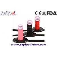 Buy cheap Silicone Dildo Gag Oral Sex Penis Mouth Anal Plug Penis Gag With Locking Buckles Leather Bondage from wholesalers