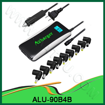 Quality 90W 2010 New Mode with 2in1 Universal Laptop Adapter For Home & Car Use ALU-90B4B for sale
