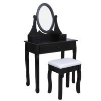 China French classic dresser,dressing table and mirror,mirrored vanity table,stool,wooden hand carved wholesale