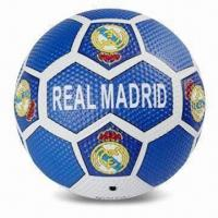 China Soccer Ball, Made of Rubber, Customized Logos are Accepted wholesale