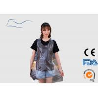 China CPE / PE Disposable Plastic Aprons Ties On Neck And Waist Type Transparent Color wholesale